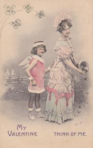 VALENTINE'S DAY : Cherub & Woman , PU-1909