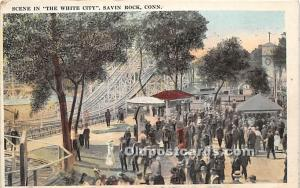 Savin Rock, Connecticut, CT, USA Postcard Scene in The White City 1926