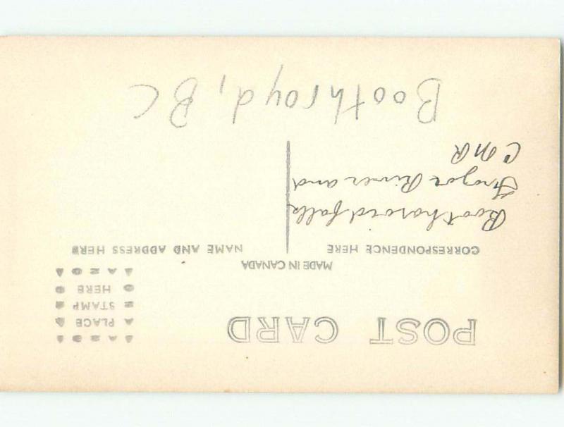 Pre-1918 rppc NICE VIEW Boothroyd Boston Bar & North Bend & Hope BC W1096