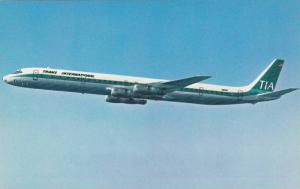 TIA Super DC-8 Fan Jet Airplane , 60-80s ;  Commercial Issue