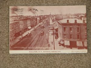Fall St. Looking West, Seneca Falls, N.Y. used vintage card, 1909