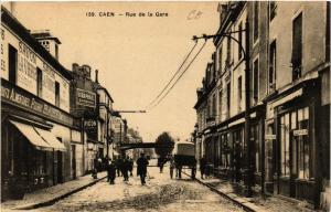 CPA CAEN - Rue de la Gare (515791)
