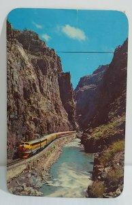 Streamline Train D&RG Railroad Royal Gorge Canon City Colorado 1968 Vintage Post