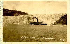AK - Taku Glacier. SS Admiral Rogers - RPPC