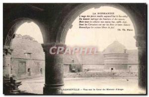 Old Postcard Varengeville Courtyard View Manor of Ango Pigeon Pigeon