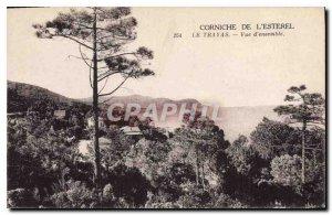 Old Postcard Corniche Esterel Trayas Overview