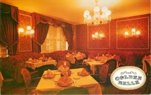 Billings MT~Romantic Evening, Red Golden Belle Dining Room~1960 Postcard