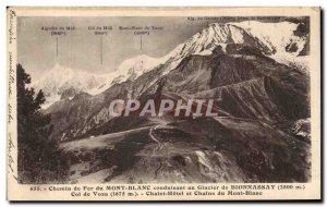 Old Postcard path Iron Mont Blanc Leading the Glacier De Bionnassay Collar Vo...