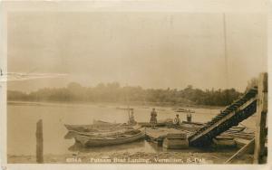 Vermilion SD Kids @ Putnam Boat Landing Below Ramp~Sepia RPPC c1915