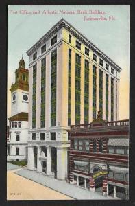Atlantic National Bank & P.O. Jacksonville FL unused c1910s