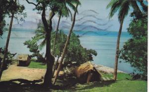 FAAA, Tahiti, PU-1967; View Of The Beach, Native Huts