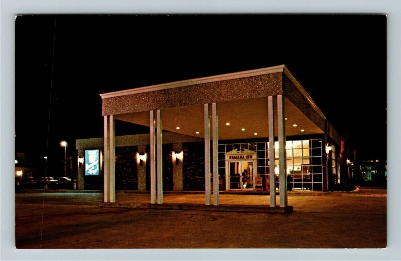 Brunswick GA- Georgia, Ramada Inn, Advertising, Vintage Chrome Postcard
