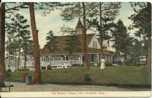 The Pavilion Pequot Lake Westfield Massachusetts Vintage Postcard Edwardian