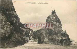 Old Postcard Saint Nazaire the Lion Rock
