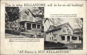 Kellastone Stucco Siding For Houses Chicago IL Co c1910 Postcard