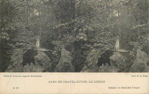Postcard France stereographic image Parc de Chatel Guyon