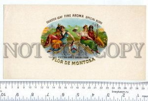 500054 FLOR de MONTOSA Vintage embossed cigar box large label