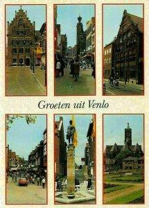 Netherlands Groeten uit Venlo multiviews Statue Church Postcard