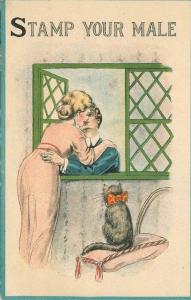 Artist Impression 1916 Romantic Couple Postal Related postcard 1362