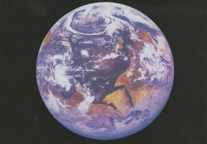 The Indian Ocean From Outer Space Rare Astronomy Map Postcard