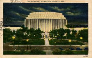 MI - Dearborn. Ford Rotunda by Illumination