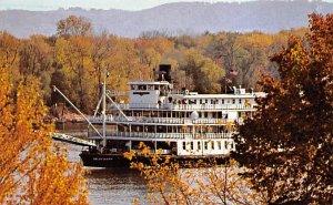 Delta Queen on upper Mississippi River Boat PU 1973