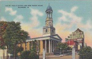 Virginia Richmond Old Saint Pauls Church And New Parish House