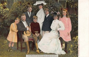 President Theodore Roosevelt and Family, Early Postcard, Circa 1902-07, Unused