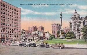 Main And Adams Streets Court House Square Peoria Illinois