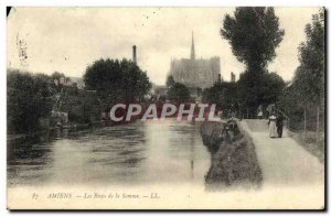 Old Postcard The Banks of Amiens Somme