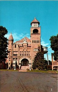 VTG Postcard Iron County Court House Crystal Falls Michigan 1979 Unposted  80