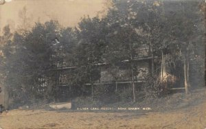 RPPC SILVER LAKE RESORT Near Grawn, Michigan 1910 Real Photo Vintage Postcard