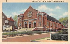Highlands New Jersey Church of Our Lady of Perpetual Help antique pc Z13428