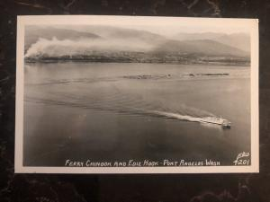Mint Port Angeles Wa USA RPPC Postcard Ferry Chinook & Edit Hook View