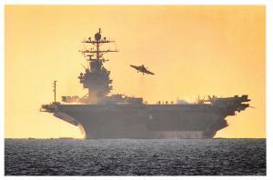 Postcard US Nimitz Class Aircraft Carrier USS Harry S Truman, Mediterranean 18D