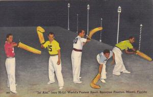 Jai Alai Players Biscayne Fronton Miami Florida World's Fastest Sport