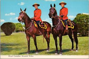 RCMP Mounties Royal Canadian Mounted Police Horses Unused Vintage Postcard D43