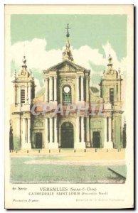Postcard Old Oise Seine Versailles Cathedrale Saint Louis