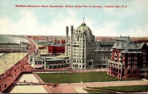 New Jersey Atlantic City Marlboro-Blenheim Hotel Boardwalk & Miilion Dollar P...