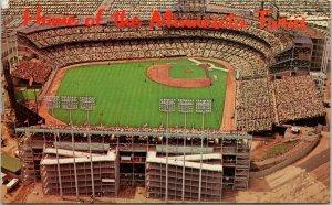 Home of Minnesota Twins Bloomington MN Metropolitan Stadium c1970 Postcard F74