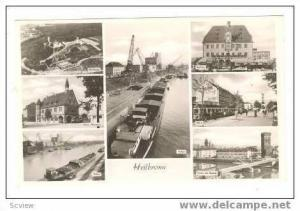 RP 7-view postcard, Heilbronn, Germany, 1940s
