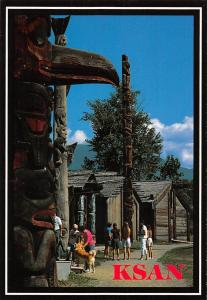 Canada Ksan British Columbia Indian Village Totems