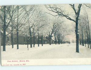 Pre-1907 STREET SCENE Berlin Wisconsin WI G5414