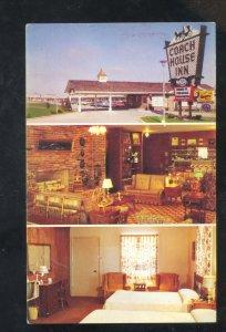 SPRINGFIELD MISSOURI ROUTE 66 COACH HOUSE INN INTERIOR ADVERTISING POSTCARD