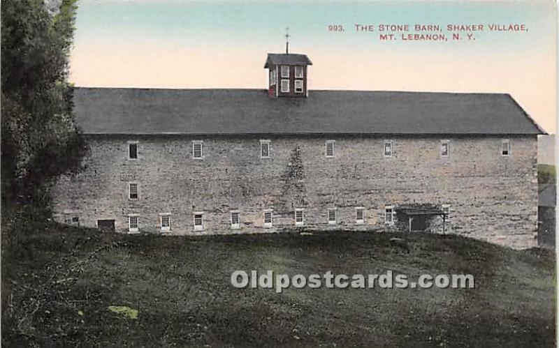 The Stone Barn, Shaker Village Mount Lebanon, NY, USA Unused