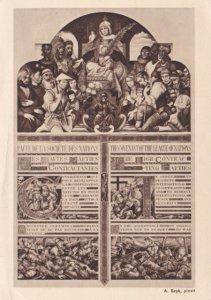 Postcard Arthur Szyk Polish American Judaica Covenant League of Nations