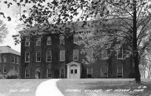 Mt Vernon Iowa~Curved Path to Old Seminary @ Cornell College RPPC c1950