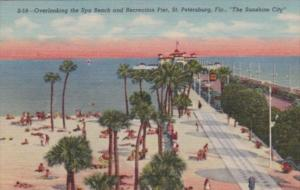 Florida St Petersburg Overlooking Spa Beach and Recreation Pier Curteich