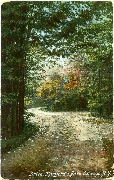 Drive through Kingford's Park - Oswego NY, New York - DB