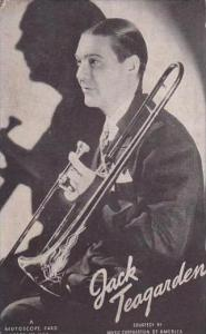 Vintage Mutoscope Card Jack Teagarden
